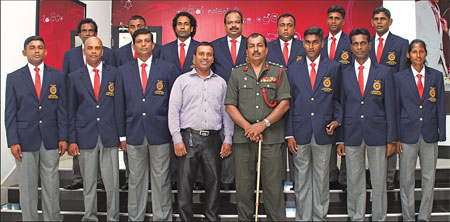 Namal Balachandra, Chairman of Wills Designs with the Paralympic team
